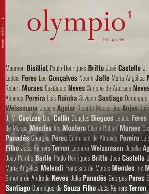 Revista 'Olympio' será lançada em Belo Horizonte neste sábado, 19, e chega a Portugal em junho