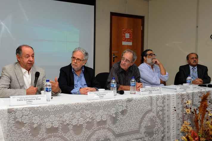 Clélio Campolina, Paulo Paiva, José Alberto Magno de Carvalho, João Antonio de Paula e Paulo Haddad