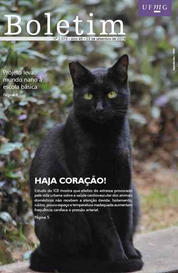 Capa da edição 2.073 do Boletim (com foto de Raphaella Dias / UFMG)