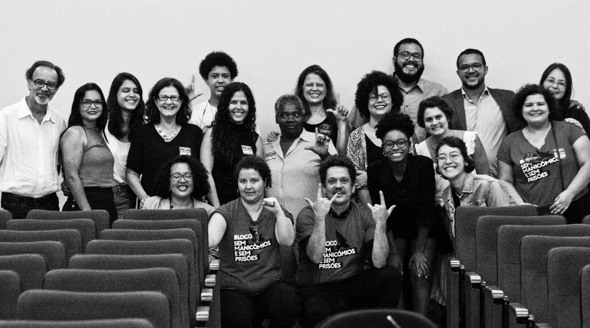 Equipe da UFMG e parceiros no lançamento da Plataforma Desencarcera, em 2018