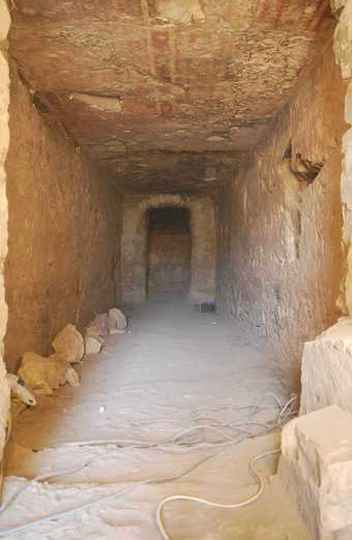 Corredor principal da TT 123: tumbas inéditas e de grande potencial