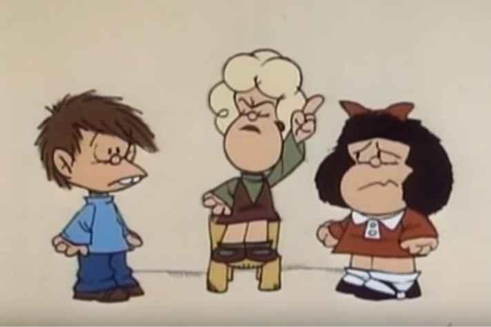 Quadro de cena censurada pela ditadura argentina do filme 'Mafalda', de Carlos Marquéz