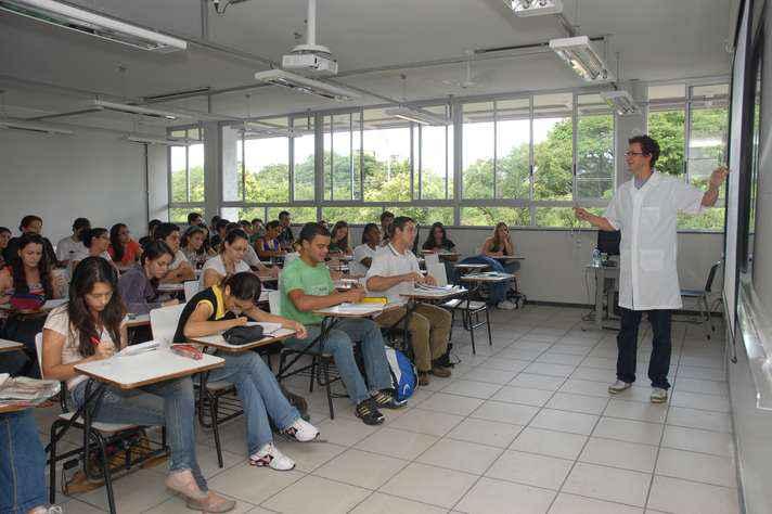 Sala de aula no campus Pampulha: respeito à autonomia acadêmica