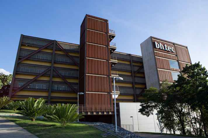 Fachada do prédio do BH-TEC, ambiente de inovação coordenado pela UFMG
