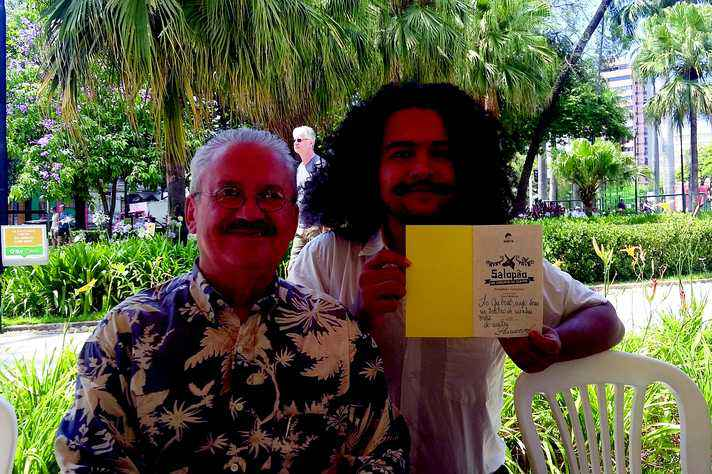 Gabriel Pereira (à direita), com Limoeiro: