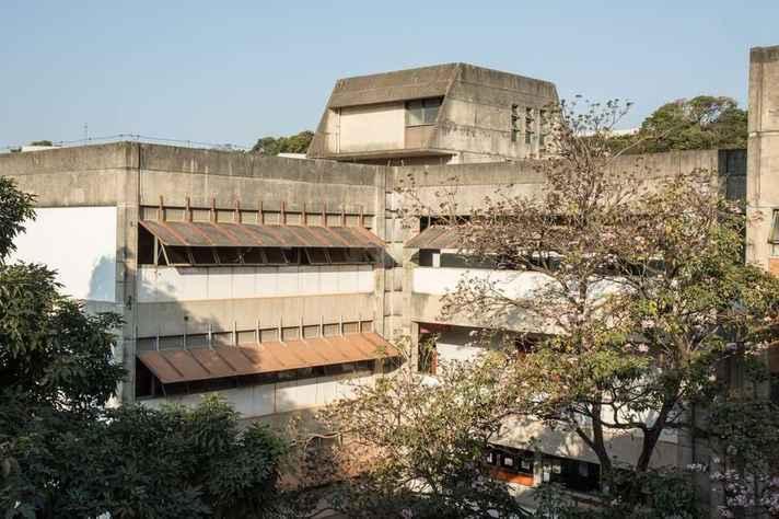 Vista da Faculdade de Letras da UFMG no Campus Pampulha