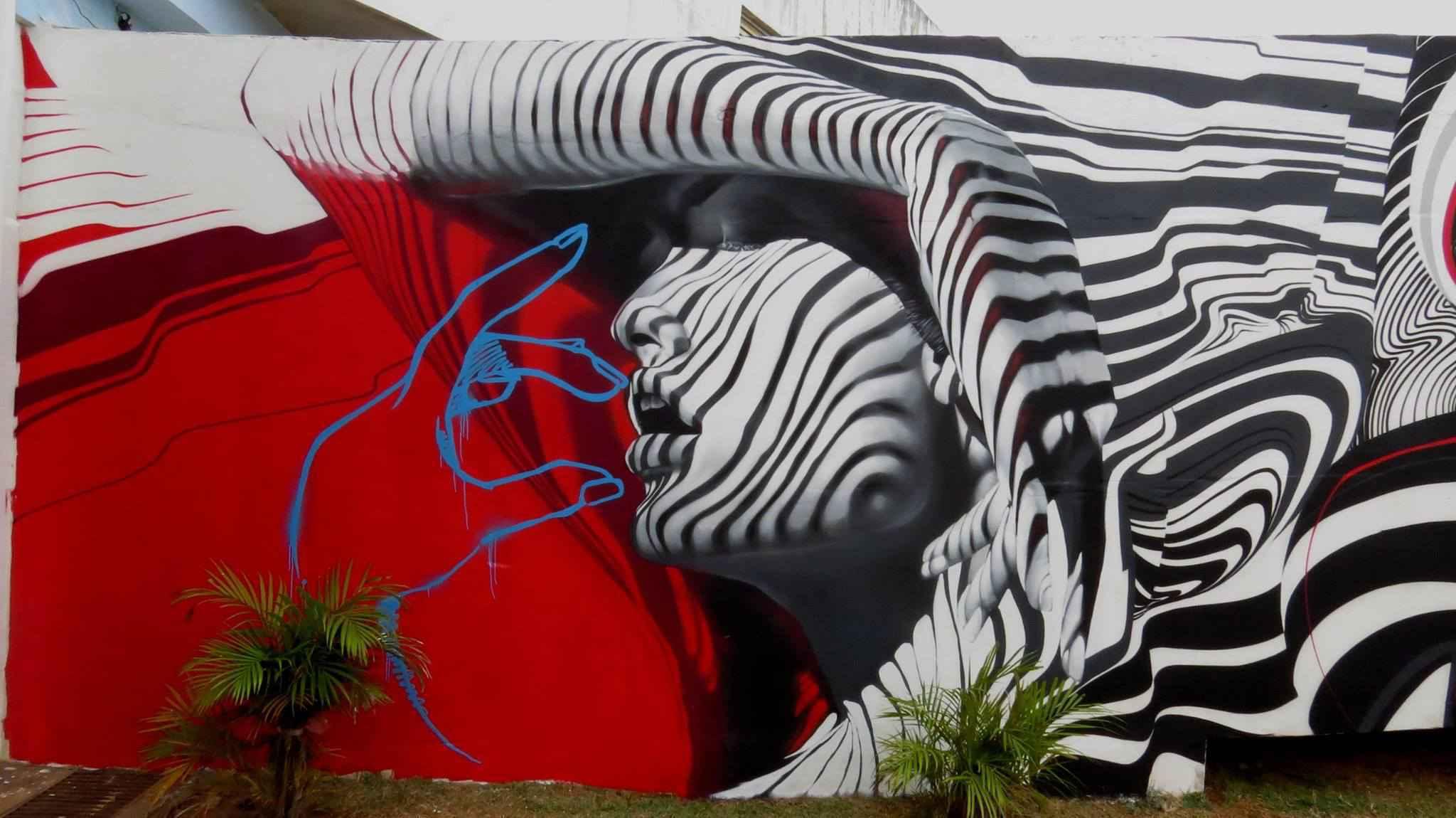 Um dos trabalhos do artista Fhero, que será o responsável pela pintura de um prédio no centro de BH
