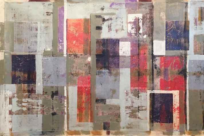 Obra de Paulo Miranda: papel, lona e pigmentos naturais