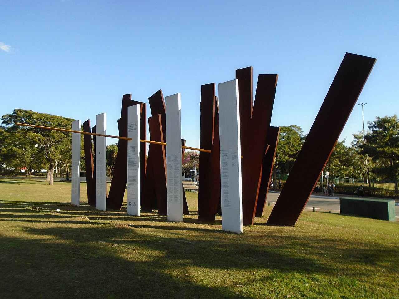 Monumento em homenagem aos mortos e desaparecidos da ditadura militar brasileira instalado no Parque do Ibirapuera, em São Paulo