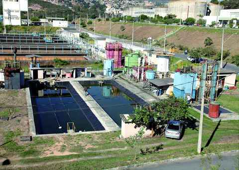 Centro de pesquisa da UFMG na ETE Arrudas, da Copasa