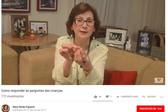 No seu canal do Youtube, a professora Mary Neide dá dicas de como responder a perguntas de crianças que parecem complexas