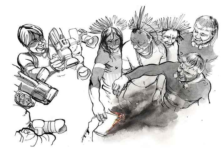 Ilustração de João Teófilo, também presente no filme