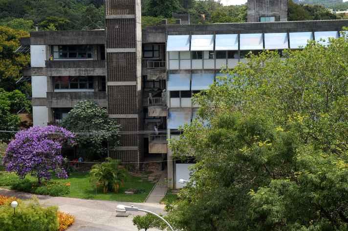 Prédio do ICB, no campus Pampulha