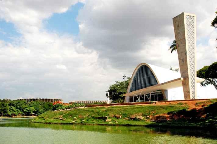 Vista da Igreja da Pampulha