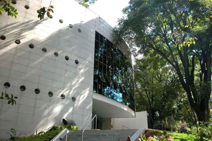 Fachada do edifício que sedia o MHAB, no Cidade Jardim