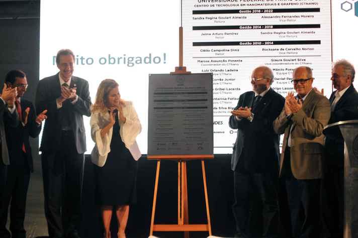 Descerramento de placa marcou inauguração do CTNano