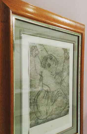 Gravura em metal de Cândido Portinari. Presente para Henriqueta Lisboa (década de 1940).