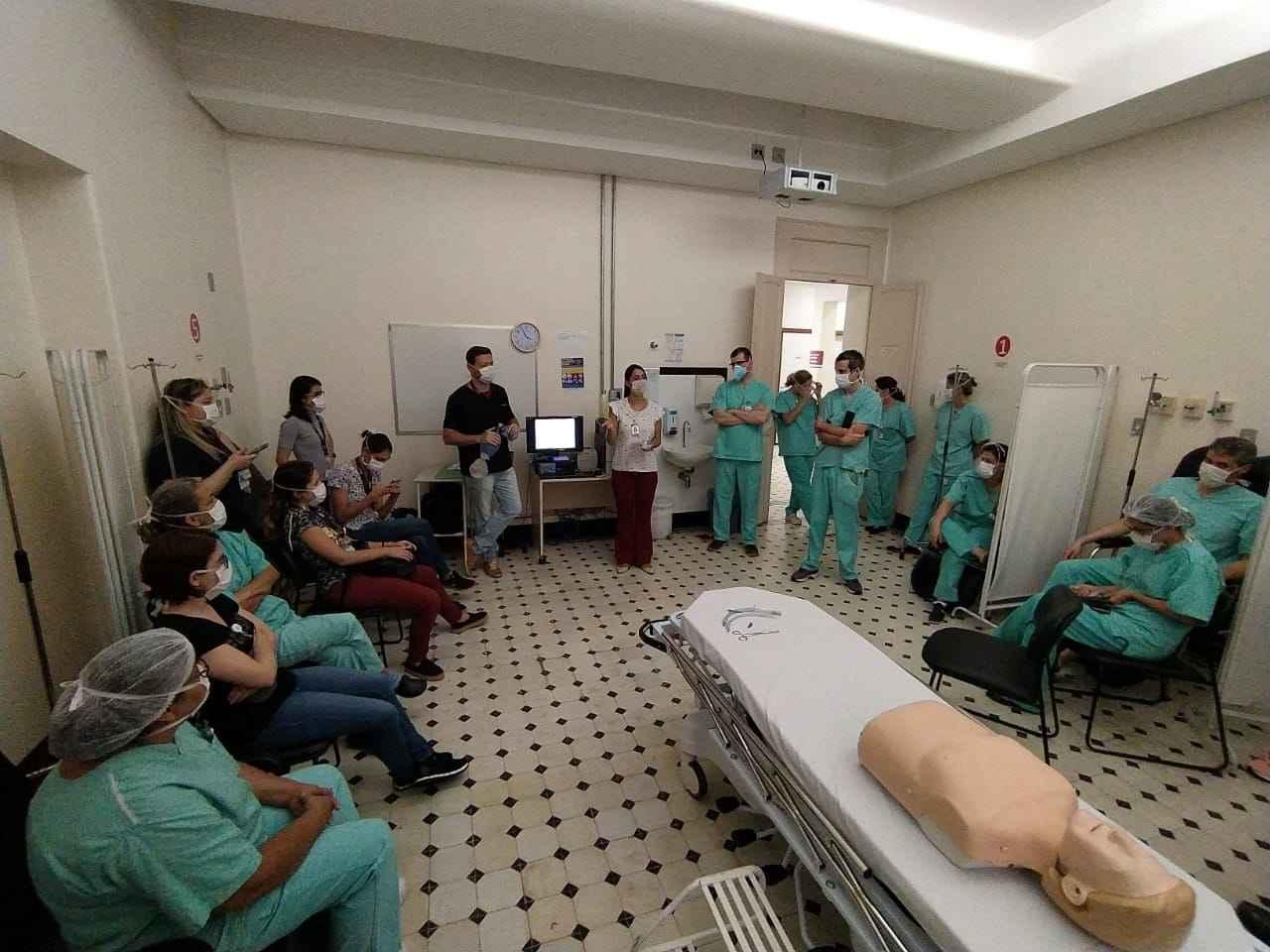 Treinamento no Hospital das Clínicas