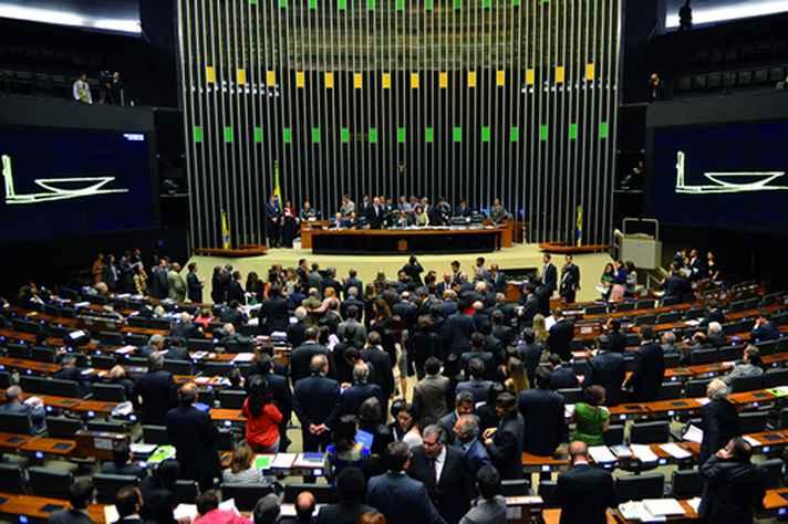 Plenário do Congresso Nacional brasileiro: coalizões tendem a ser formadas no início do mandato presidencial
