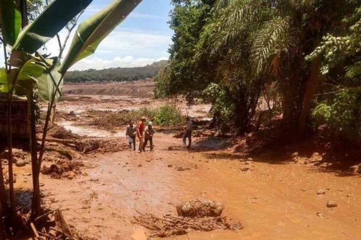 Trabalhos de resgate em Brumadinho