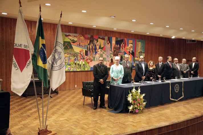 O prefeito de Belo Horizonte, Alexandre Kali, e autoridades de diversas instituições estaduais participaram da solenidade