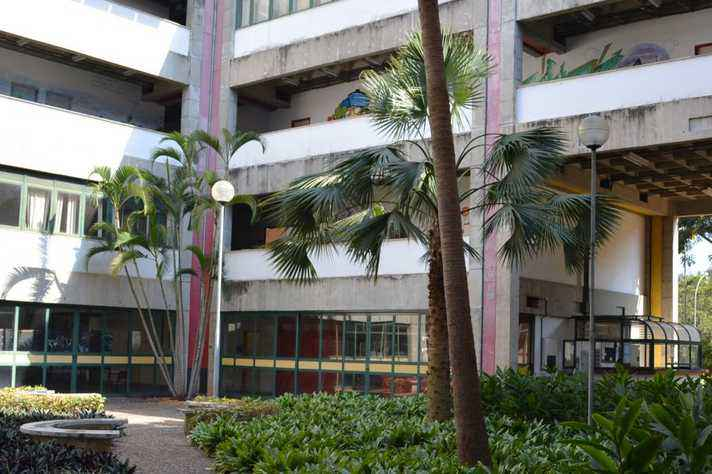 Prédio da Fafich no Campus Pmpulha