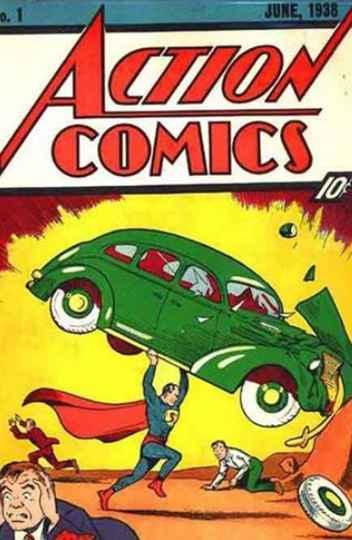Capa de uma revista em quadrinhos publicada em 1938