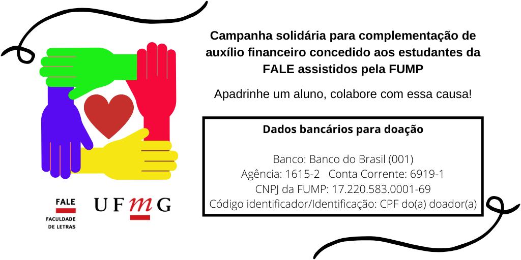 Flyer de divulgação da campanha com dados bancários