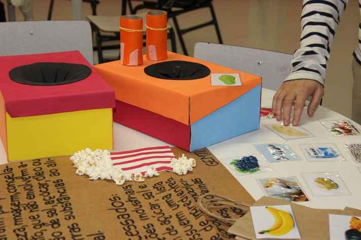 Materiais usados nas escolas pelo integrantes do Gemti
