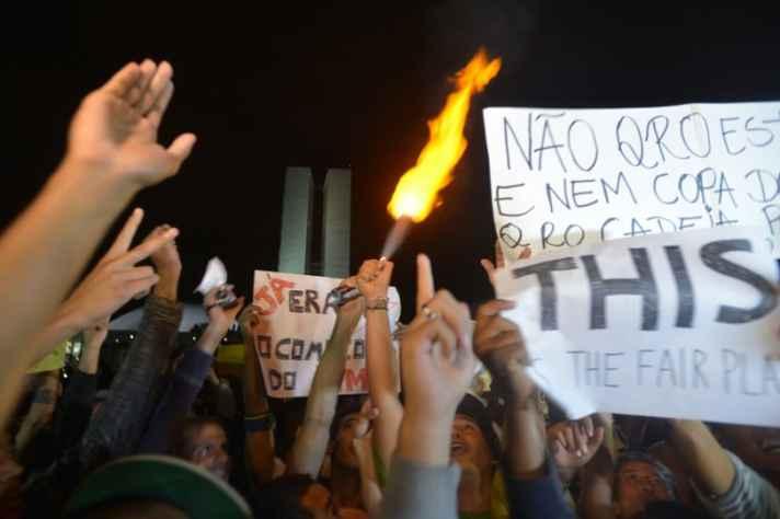 Registro dos protestos no Congresso Nacional