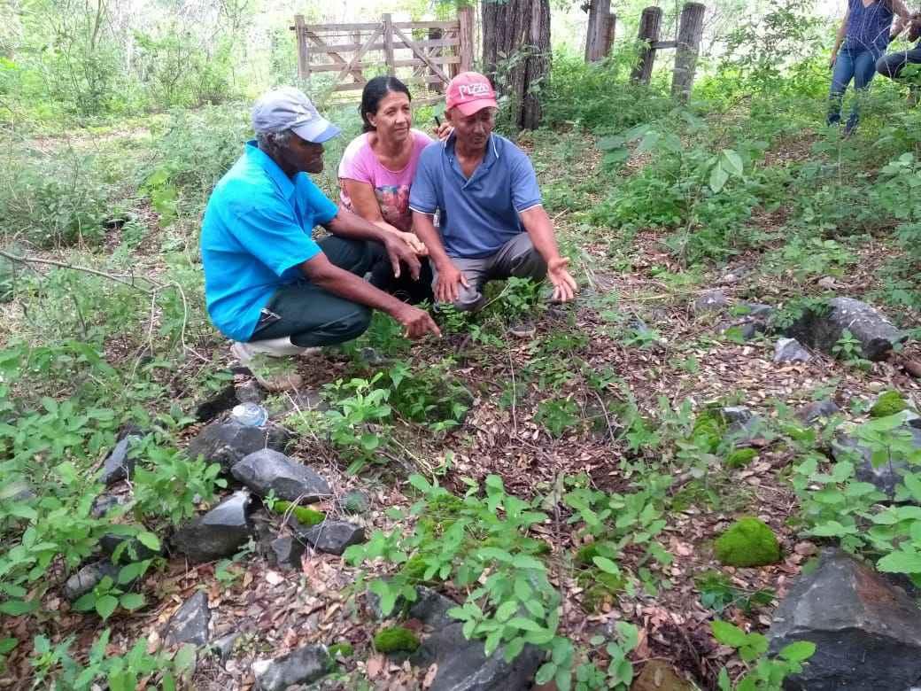 Moradores da comunidade tradicional de Pau de Légua localizada na área do parque