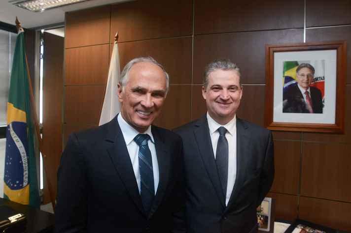 Vice-governador de Minas, Antônio Andrade, e presidente da ALMG, Adalclever Lopes