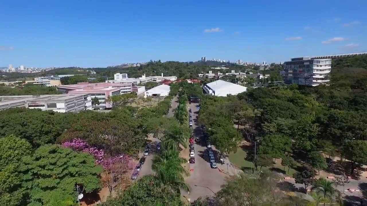 Vista aérea do campus Pampulha