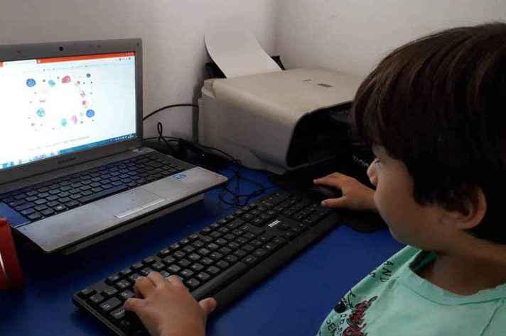 Crianças de 8 a 12 anos podem responder sozinhas o questionário on-line