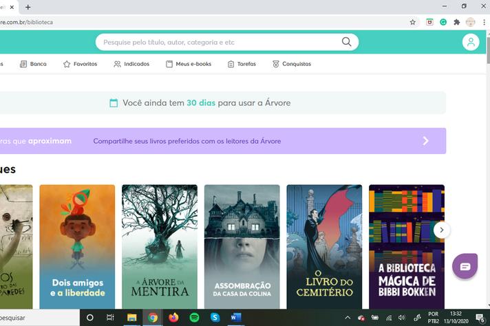 Plataforma 'Arvore de livros' é um dos serviços de e-books oferecidos pela Biblioteca Universitária
