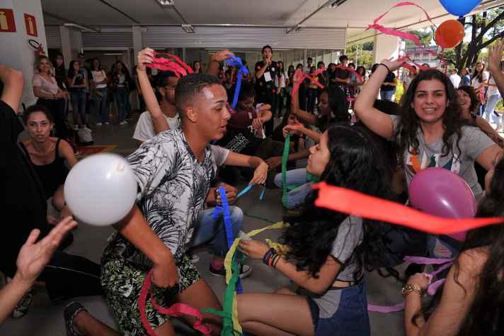 Aula de dança no CAD 3