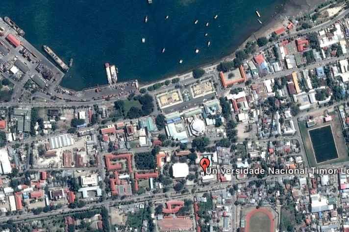 Vista aérea da cidade de Díli