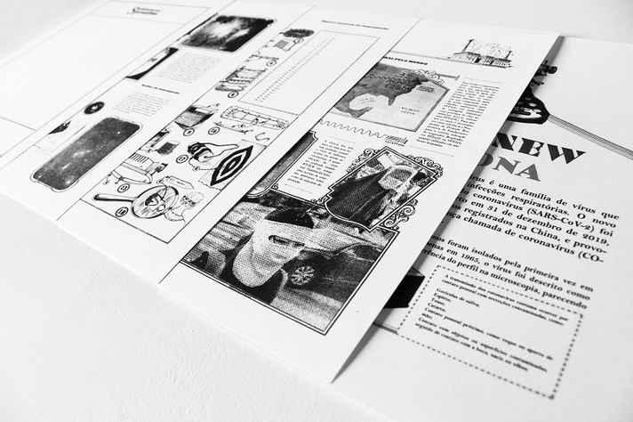 Ilustração que compõe a proposta de Sergio Augusto Medeiros, doutorando em Artes pela UFMG. Ele pretende criar um website para documentar e investigar, em conteúdos de mídia, as aproximações entre a ficção científica e a pandemia de Covid-19