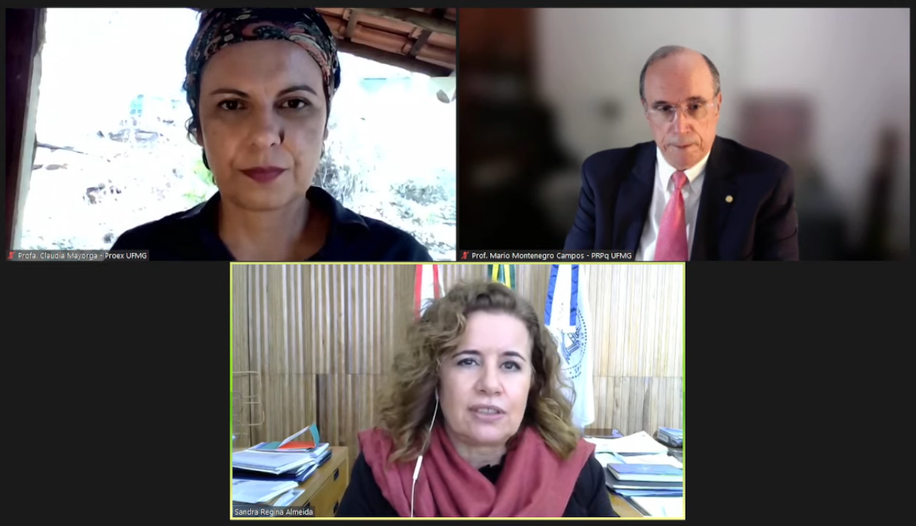 Claudia Mayorga, Mario Campos e Sandra Goulart Almeida participaram do lançamento