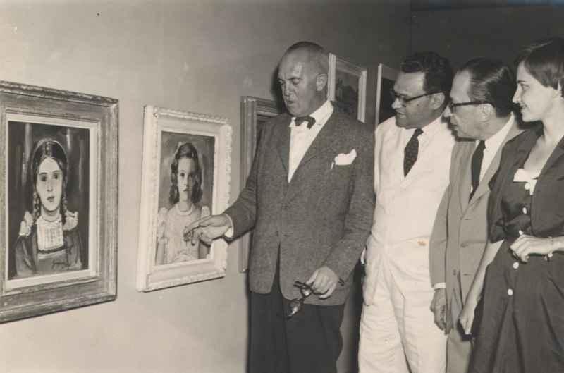 Alberto da Veiga Guignard na sua exposição no MAM.