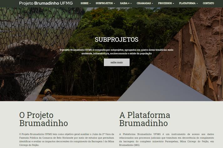 A nova plataforma do Projeto Brumadinho UFMG na internet: integração de dados e transparência