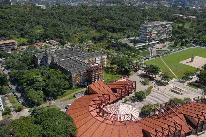 Vista área do campus Pampulha