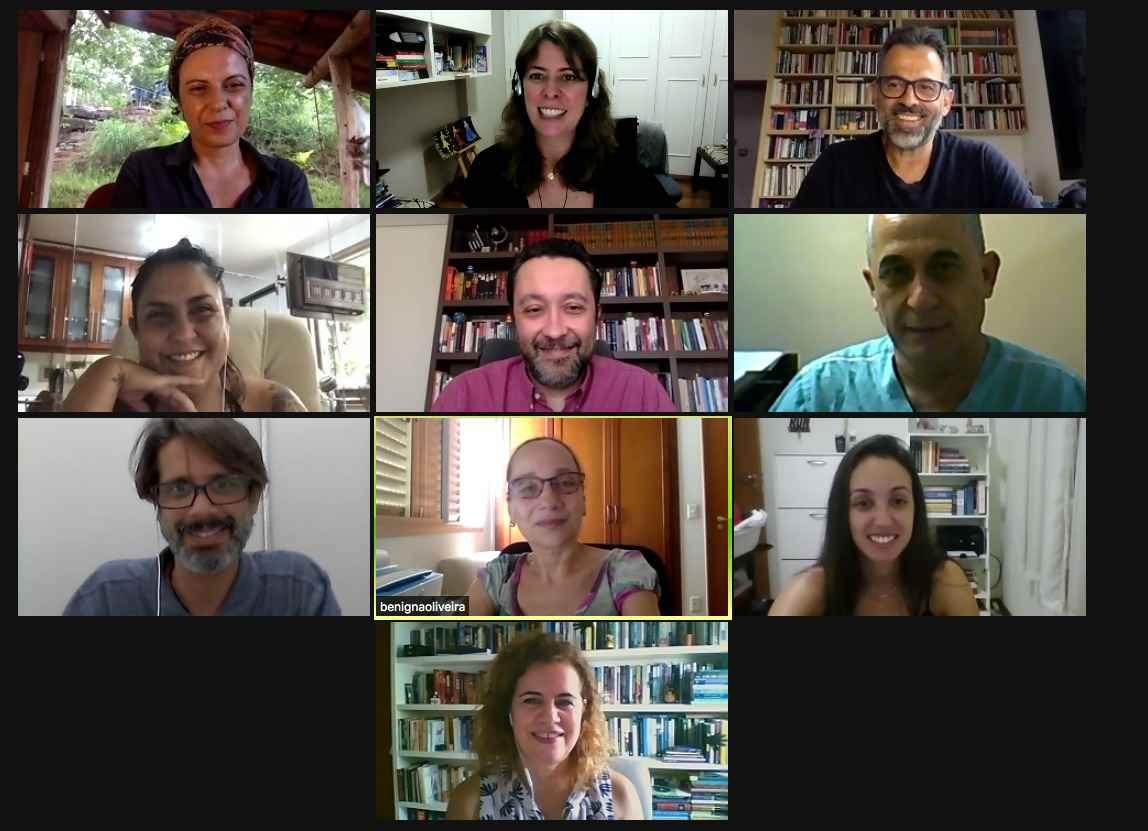 Integrantes do comitê de enfrentamento do coronavírus em reunião na última sexta-feira, dia 8