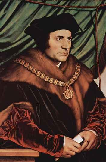 Retrato do escritor Thomas More, autor de 'Utopia', pintado pelo artista alemão Hans Holbein (o Jovem). A obra está exposta na Coleção Frick, em Nova Iorque