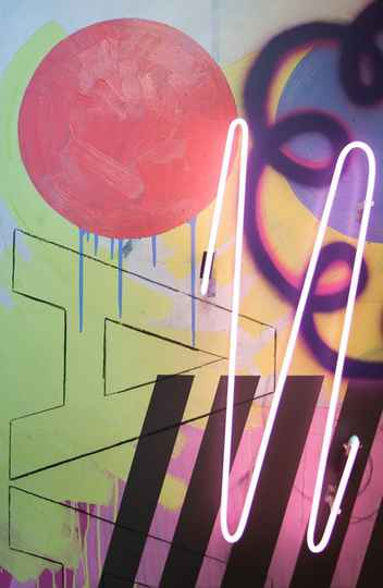 Uma das obras de Luiz Lemos em exposição