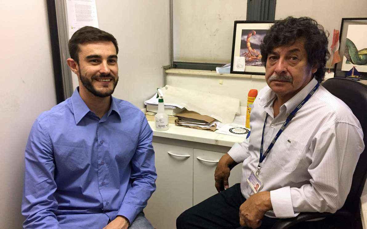 Luís Figueiredo e Carlos Olórtegui: exame pode ser adaptado ao diagnóstico de outros tipos de micose