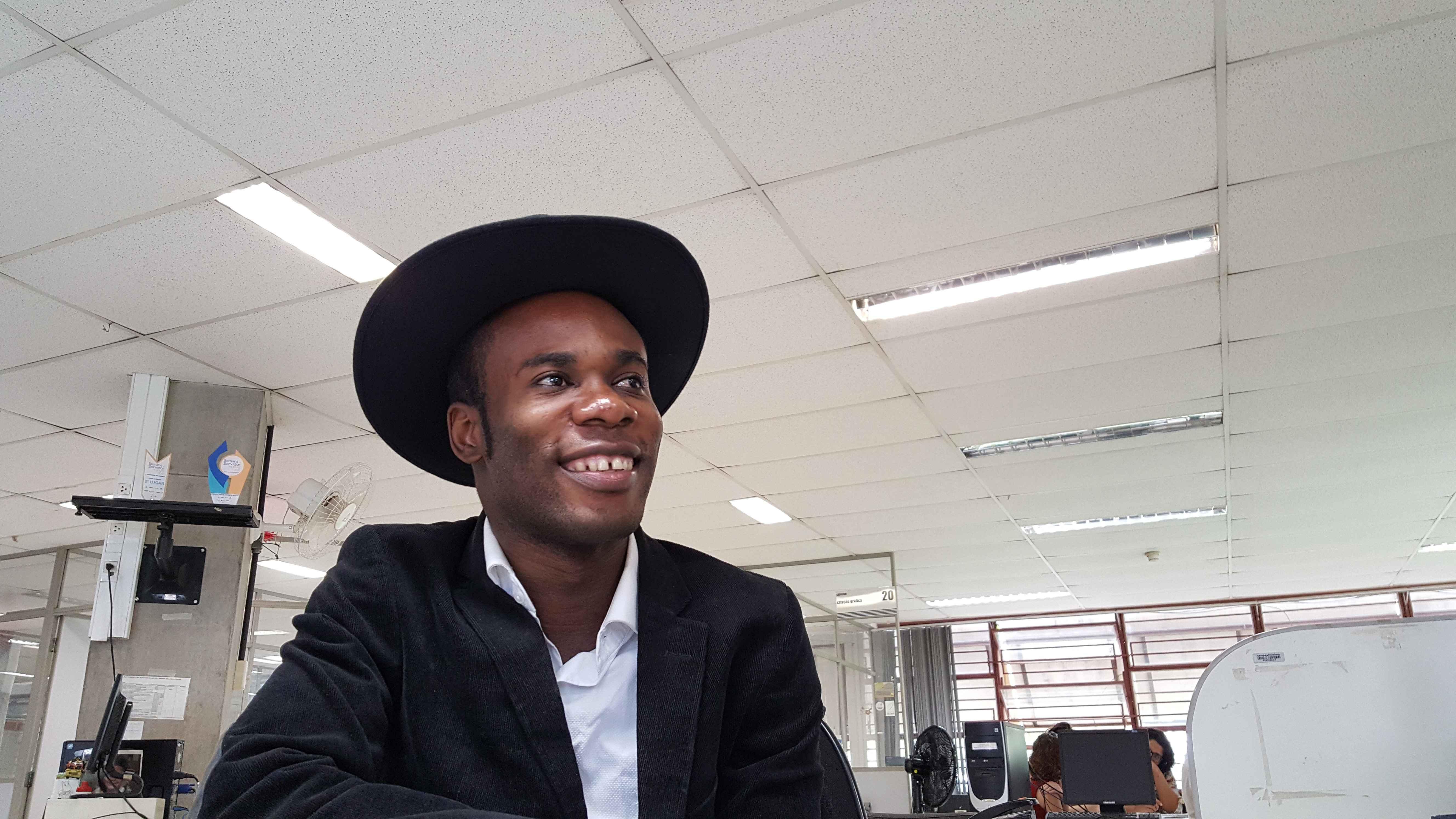 Louison Mbombo, responsável pela organização local do Hult Prize at UFMG on Campus Program