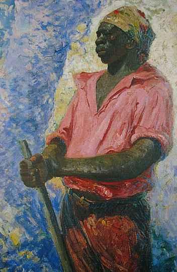 Retrato de Zumbi dos Palmares pintado por Antonio Parreiras