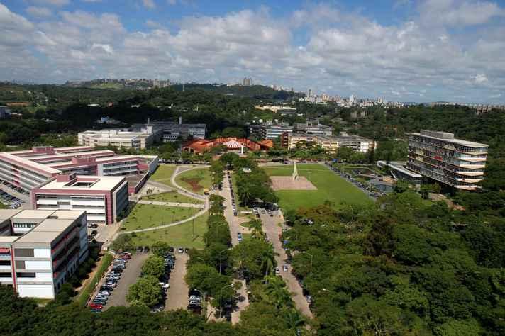 Panorâmica do campus Pampulha: nem todas as áreas de excelência da UFMG estão contempladas no levantamento