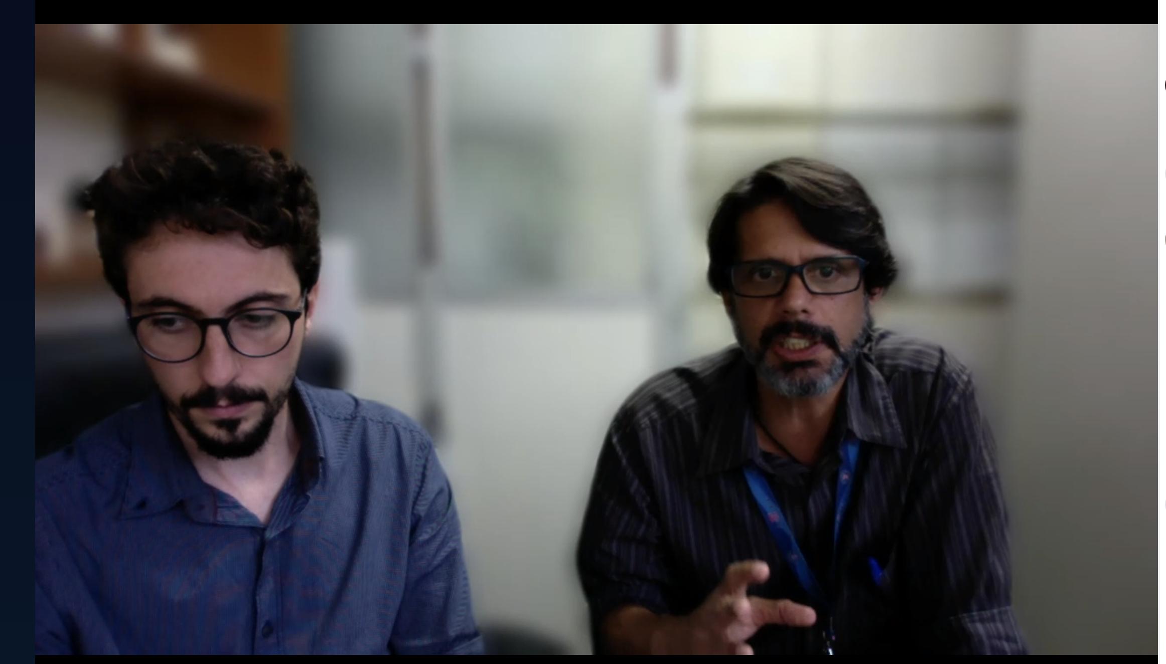 Flávio Fonseca (à direita) durante a reunião que foi realizada por videoconferência para evitar aglomerações de pessoas em mesmo ambiente físico, uma das recomendações para minimizar a disseminação do coronavírus